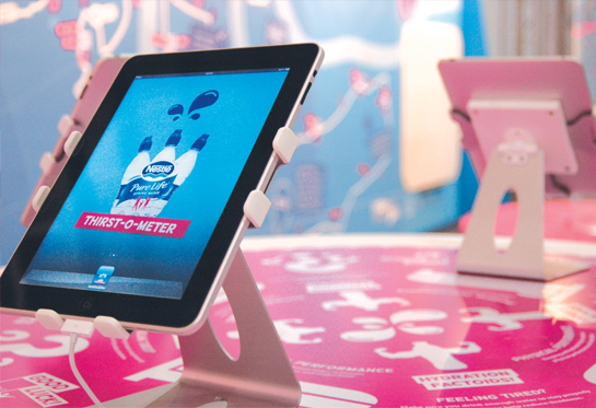 Nestlé Pure Life iPad app for the Virgin London Marathon
