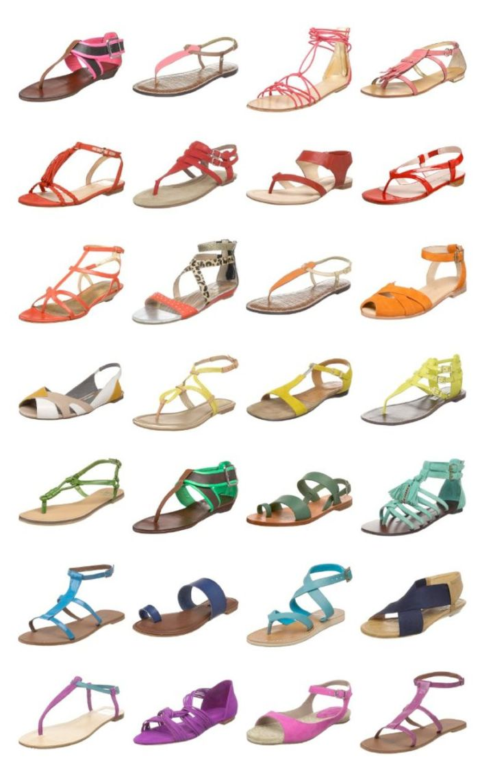 Anne Sage's sandal selection