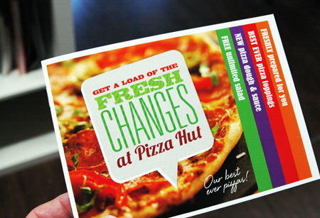 Pizza Hut fresh changes table talker