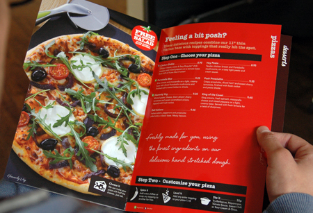 Pizza Hut restaurant menu