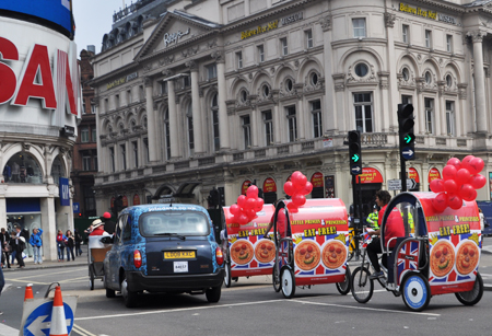 Pizza Hut Royal Wedding rickshaws!