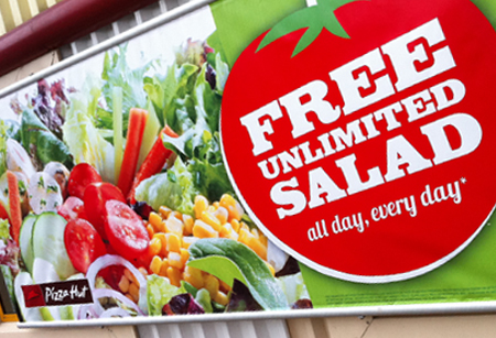 Free unlimited salad creative